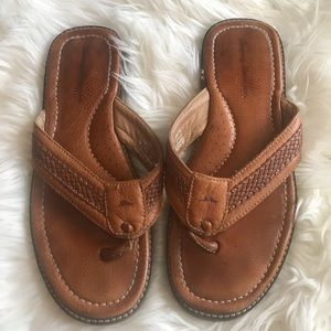 Men's Tommy Bahamas Brown Leather Sandals, 11M